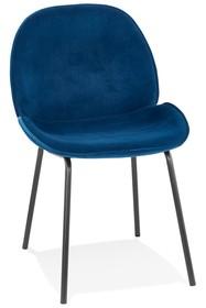 Krzesło AGATH - granatowy/czarny