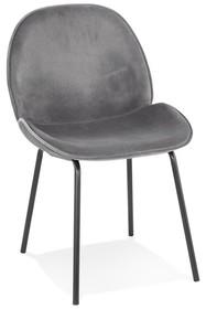 Krzesło AGATH - ciemny szary/czarny