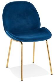 Krzesło AGATH - granatowy/złoty