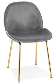 Krzesło AGATH - ciemny szary/złoty