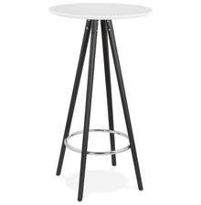 Stolik barowy DEBOO - biały/czarny