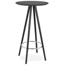 Stolik barowy DEBOO - czarny/czarny