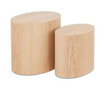 Zestaw dwóch stolików TRUNKO - naturalny
