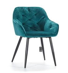 Krzesło tapicerowane PICADO blue_Aluro