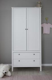 Szafa 2-drzwiowa z szufladami OLE BABY - biały mat