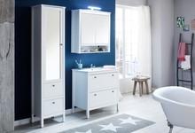 Zestaw mebli łazienkowych z szeroką szafką OLE - biały mat