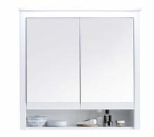 Szafka wisząca 2-drzwiowa z lustrem OLE - biały mat