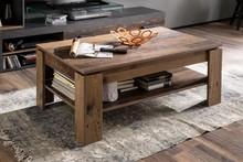 Stolik kawowy INDY - matera/drewno postarzane
