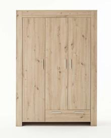 Szafa 3-drzwiowa z szufladą AHOI - dąb artisan