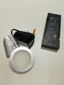 Oświetlenie Zestaw LOOX LED 2050 Oprawa okrągła 3000K/12V Biały Ciepły - Häfele