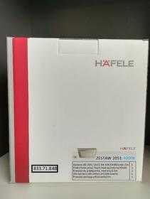 Oświetlenie Zestaw LOOX LED 2051 Oprawa kwadratowa 4000K/12V Biały Zimny - Häfele