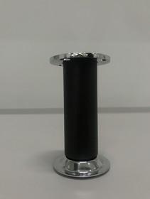 Nóżka Okrągła Z Regulacją fi32 H100 mm Czarny Szczotkowany - Rejs