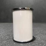 Nóżka aluminiowa okrągła fi 50 mm z regulacją. Wykończenie kolorystyczne -lakier biały połysk/chrom.  Wys. 7.5cm Bezpieczny zakres regulacji-...