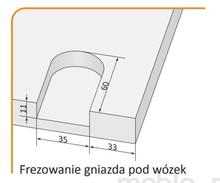 Prowadnice do drzwi Rączka Classic Plus Do Drzwi Przesuwnych Czarny Mat dł. 270cm - Aluprofil