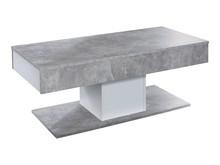 Stolik kawowy z szufladami UNIVERSAL 124 - beton
