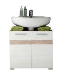 Szafka pod umywalkę SET-ONE - biały połysk/san remo
