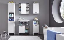Zestaw mebli łazienkowych SAN DIEGO - biały/szary