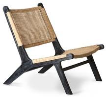 Fotel lounge czarny/naturalny