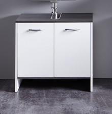 Szafka pod umywalkę 2-drzwiowa SAN DIEGO - biały/szary