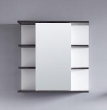 Lustro z półkami SAN DIEGO - biały/szary