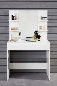 Toaletka z lustrem BASIX - biały mat