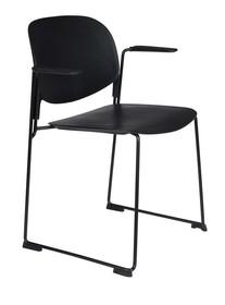 Krzesło z podłokietnikami STACKS czarny