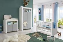 Zestaw mebli do pokoju dziecięcego PIA BABY 607 - biały/szary