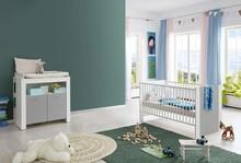 Zestaw mebli do pokoju dziecięcego PIA BABY 608 - biały/szary