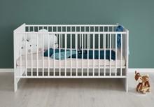 Łóżeczko dziecięce PIA BABY 140x70 - biały/szary