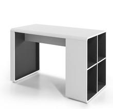 Biurko z półkami TADEO - biały/antracyt