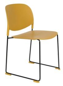 Krzesło STACKS musztardowe