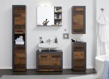 Zestaw mebli łazienkowych INDY BATHROOM - matera/drewno postarzane