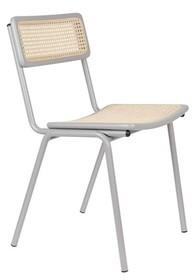 Krzesło JORT - szary/naturalny