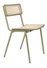 Krzesło JORT - zielony/naturalny