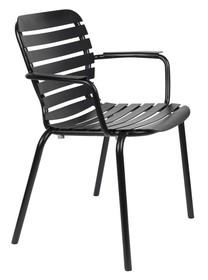 Krzesło ogrodowe z podłokietnikami VONDEL - czarny