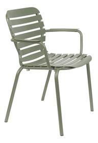 Krzesło ogrodowe z podłokietnikami VONDEL - zielony