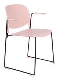 Krzesło z podłokietnikami STACKS różowy