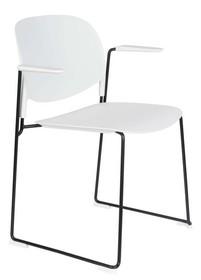 Krzesło z podłokietnikami STACKS biały