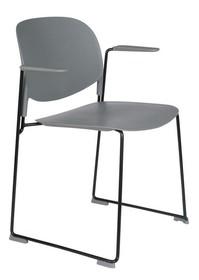 Krzesło z podłokietnikami STACKS szary
