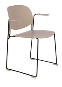 Krzesło z podłokietnikami STACKS beżowy