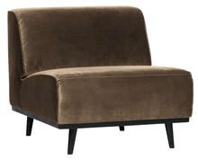 Fotel bez podłokietników STATEMENT velvet - taupe