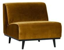 Fotel bez podłokietników STATEMENT velvet - miodowo-żółty