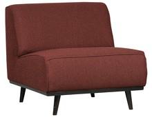 Fotel bez podłokietników STATEMENT - kasztanowy