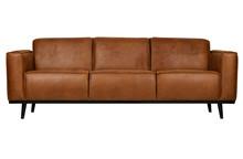 Sofa 3-osobowa STATEMENT 230 cm ekoskóra - koniak