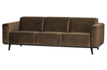Sofa 3-osobowa STATEMENT 230 cm velvet - taupe