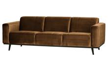 Sofa 3-osobowa STATEMENT 230 cm velvet - miodowo-żółty