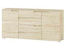 Komoda 2-drzwiowa z 4 szufladami SELENE 8 - dąb sonoma