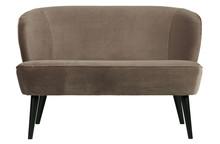Mała sofa SARA velvet - oliwkowy złoty