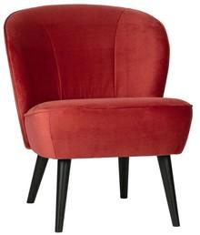 Fotel SARA velvet - malina