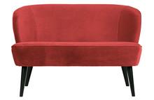 Mała sofa SARA velvet - malina